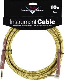 FENDER CUSTOM SHOP 10' ANGLE INSTRUMENT CABLE TWEED Кабель Jack - Jack