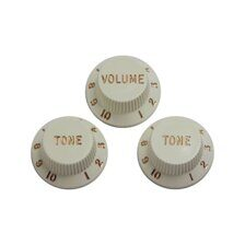 DIMARZIO STRAT REPLACEMENT KNOBS (1V,2T) WHITE DM2111W