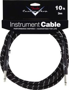FENDER CUSTOM SHOP 10' INSTRUMENT CABLE BLACK TWEED Кабель Jack - Jack